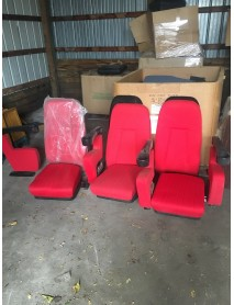 Row of 3 Reno Manhatten Chairs in Red