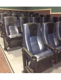 Lot of 10 Grey Theater Chair with Black Fabric, True Rocker NYC area