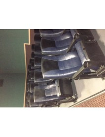 40 with an additional 360 coming Blue Leatherette Theater Chair