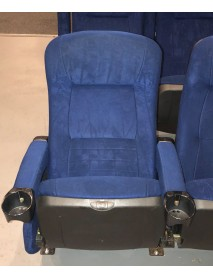 Lot of  650 Blue Kentucky Lounger Back Theater chairs for home theater seating or movie theater chairs