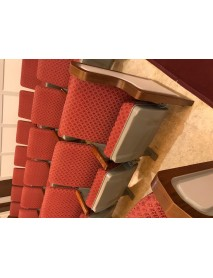 Lot of 500 used auditorium chairs - place of worship very clean very nice