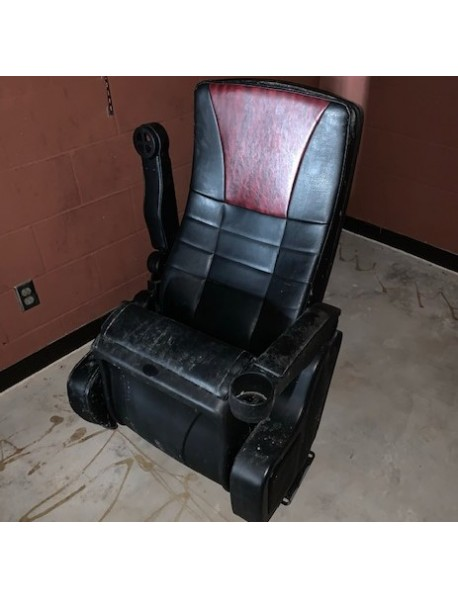 Premium Black Leatherette Kansas City Movie Theater chairs