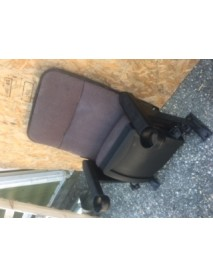 40 black Movie theater chair with burgandy fabric