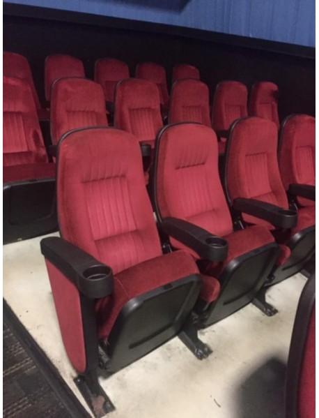 Lot of 1000 Red Theater Chair sloped floor true rocker