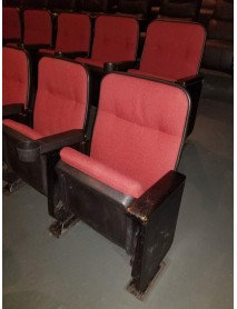 281 Black Movie theater chair with red fabric, 288 with green fabric