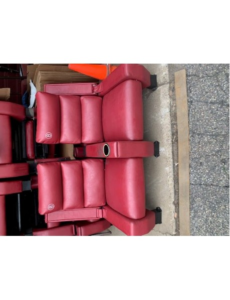 Lot of 400 Red Recliner DeLuxe Movie Theater Chairs in Red (no footrests)