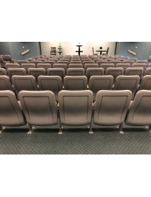 120 taupe auditorium chairs very clean