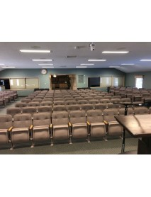 170 taupe auditorium chairs very clean