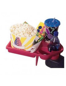 Small Snack Tray with Cup Holders for Home Theater Seating and Movie Chairs