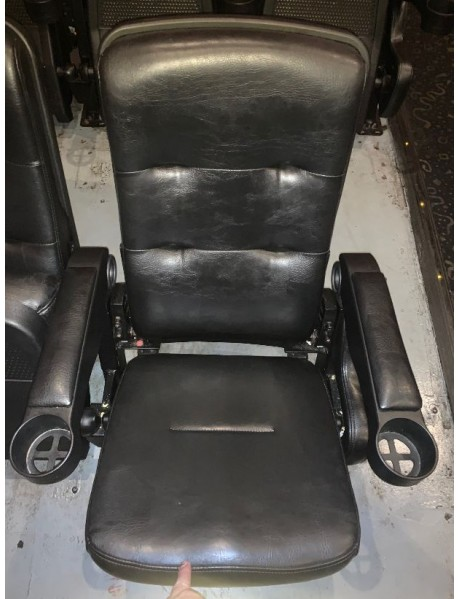 700 Black Leatherette Movie Theater Chairs - IN area