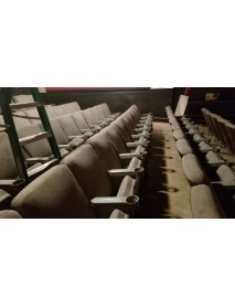 800 Brown Movie Theater chairs older style comfortable rockers and fixed back