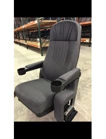 Grey theater chair - black headrest true rocker