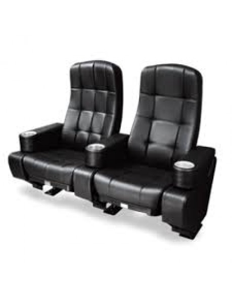 Imperial Swing Rocker Movie Theater Chair in Black Leatherette