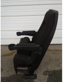 Lot of 90 Black Theater Chair with Black Fabric, lift up upholstered cupholder armrest, true rocker