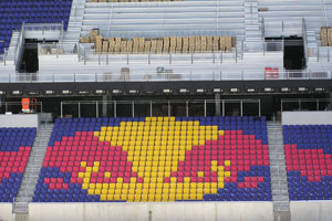 Red Bull Arena Logo in Chairs